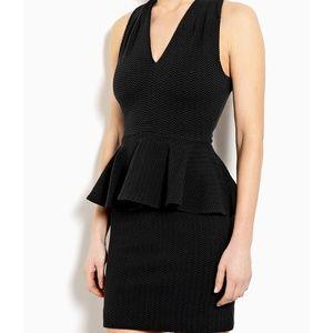 Anthropologie Ganni Black Peplum Dress (S)